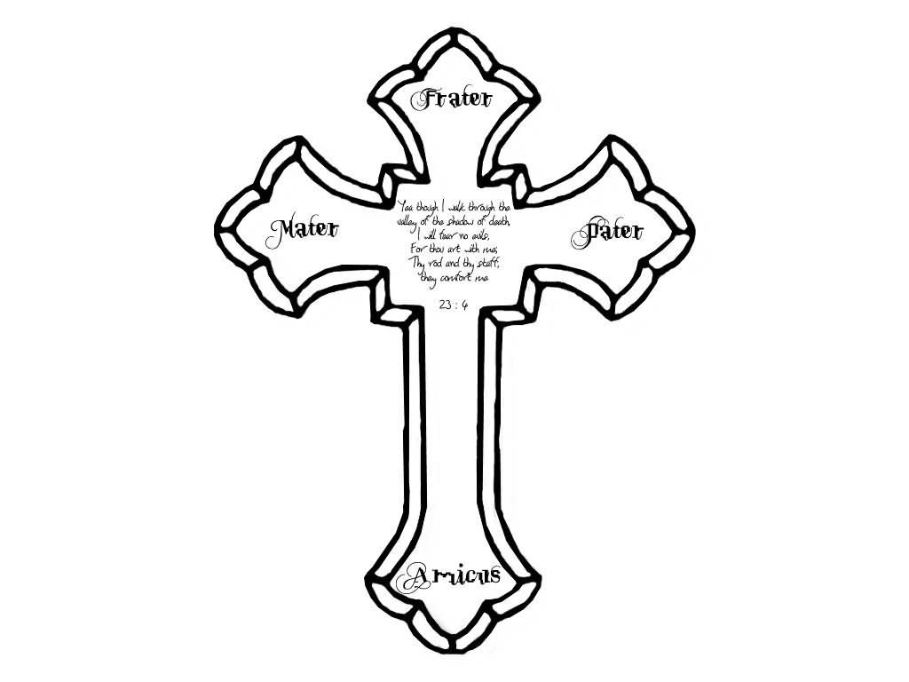 Free Outline Of A Cross, Download Free Clip Art, Free Clip