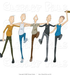 pal clipart of a group of drunk young men drinking and dancing in [ 1024 x 1044 Pixel ]