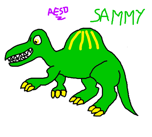 Free Green Cartoon Dinosaur Clip Art
