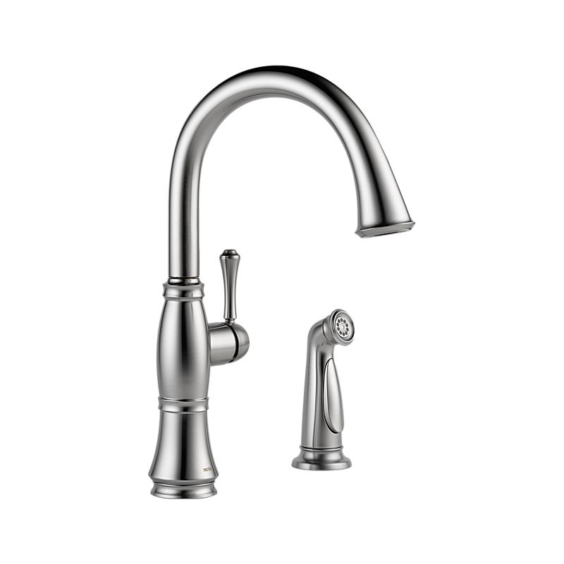 delta cassidy single handle kitchen faucet with spray 4297 clip art library