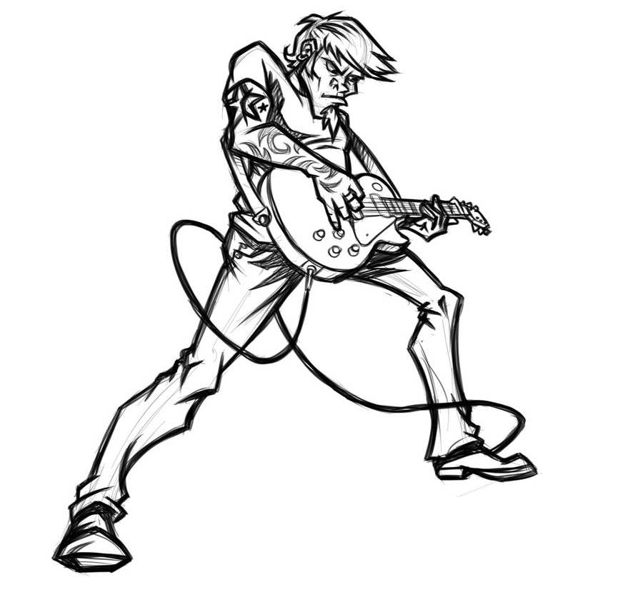Free Guitar Player Cartoon, Download Free Clip Art, Free