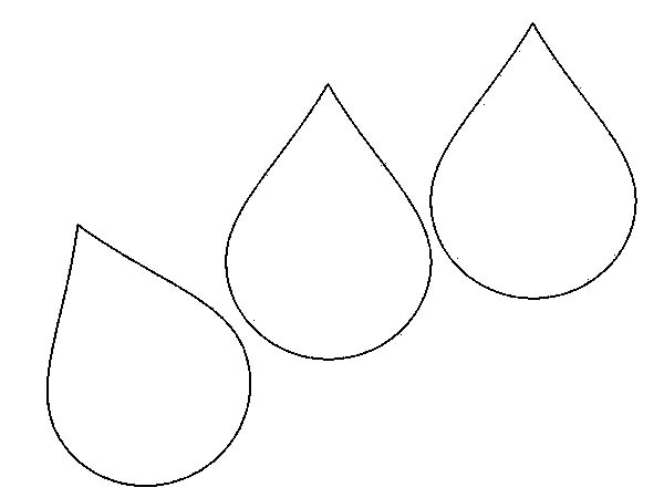 raindrop coloring page # 3
