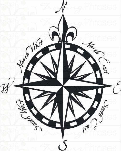 Nautical Star Compass Clipart