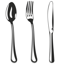 vector for free use spoon fork and knife clipart library [ 1500 x 1500 Pixel ]