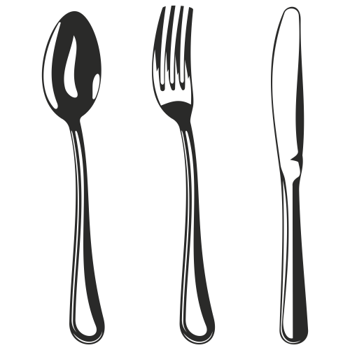 small resolution of vector for free use spoon fork and knife clipart library