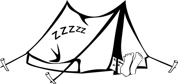 Sleeping Outdoors Cartoon Clipart