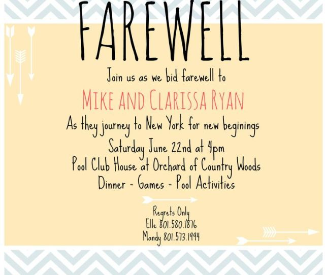 Farewell Invitation On Clipart Library Saying Goodbye Going Away