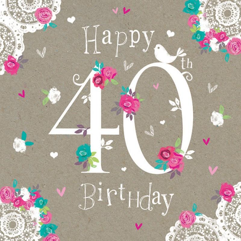 free happy 40th birthday