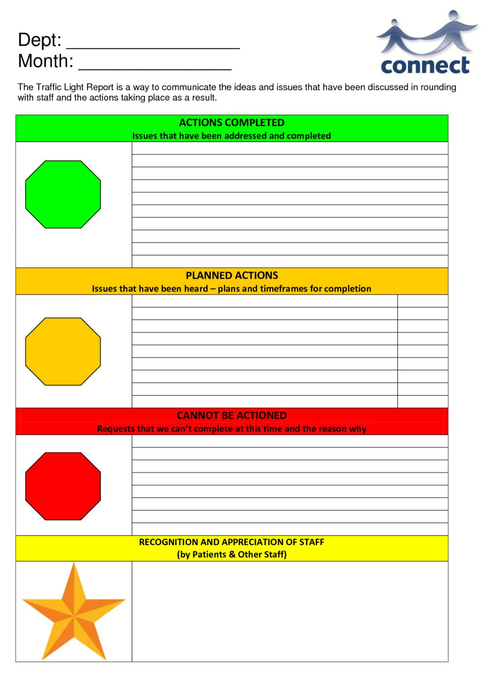 medium resolution of pin traffic light report template on pinterest