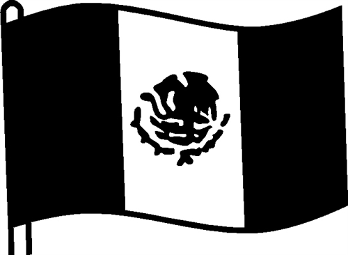 Free Mexican Flag Black And White Download Free Clip Art