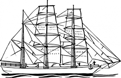 Free Ship Outline, Download Free Clip Art, Free Clip Art