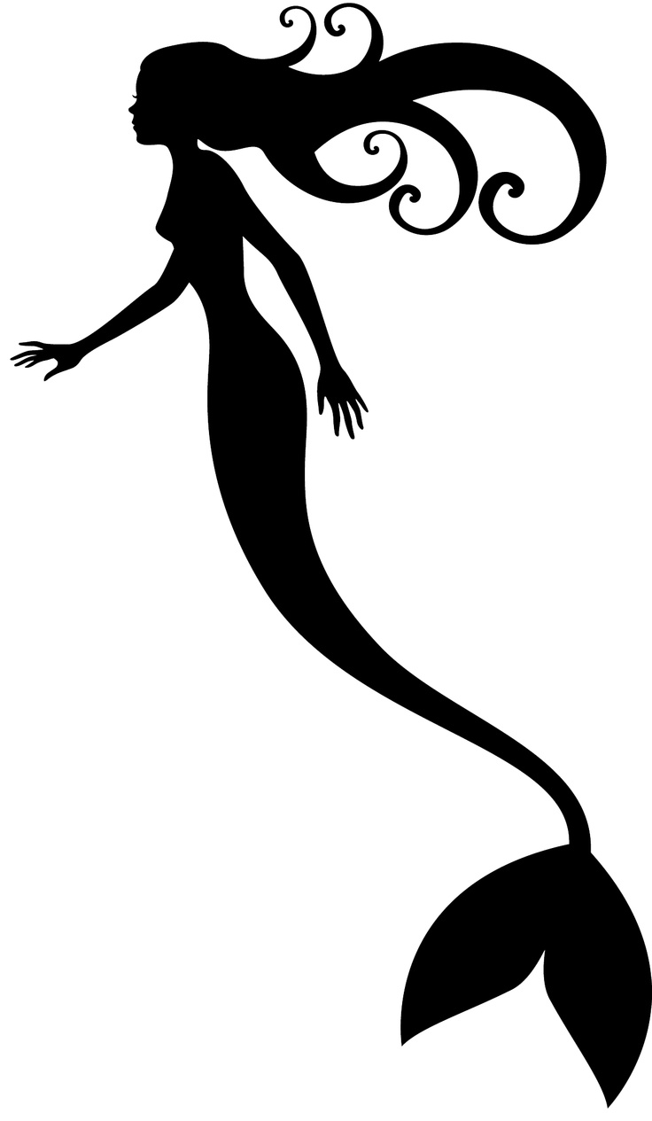 Free Little Mermaid Stencil, Download Free Clip Art, Free