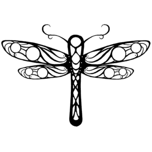 dragonfly drawings - clipart library