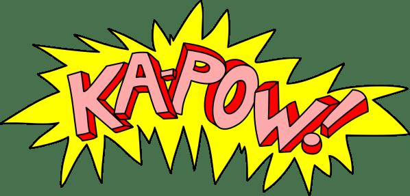 Comic Book Action Word Bubble Clip Art