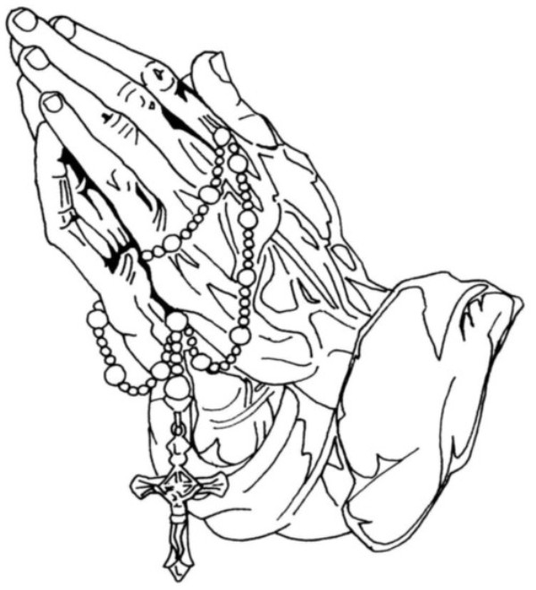 Free Praying Hands Holding A Cross, Download Free Clip Art