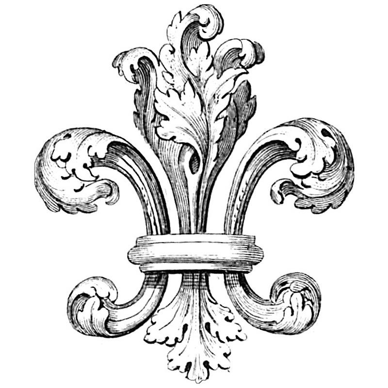 Fleur De Lis History : Fantastic Lablanche Silicone Stamp