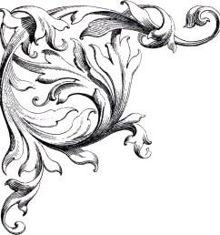 free wedding clip art scrolls the graphics fairy [ 1721 x 1800 Pixel ]