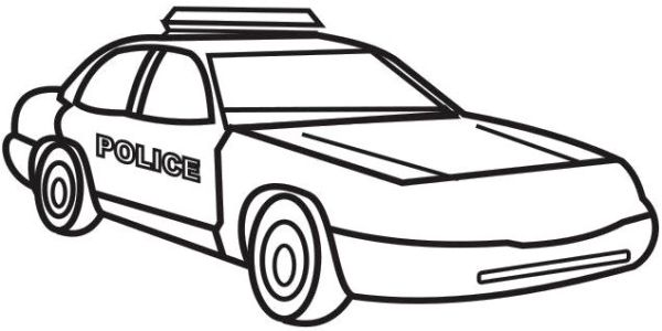 police car coloring page # 7