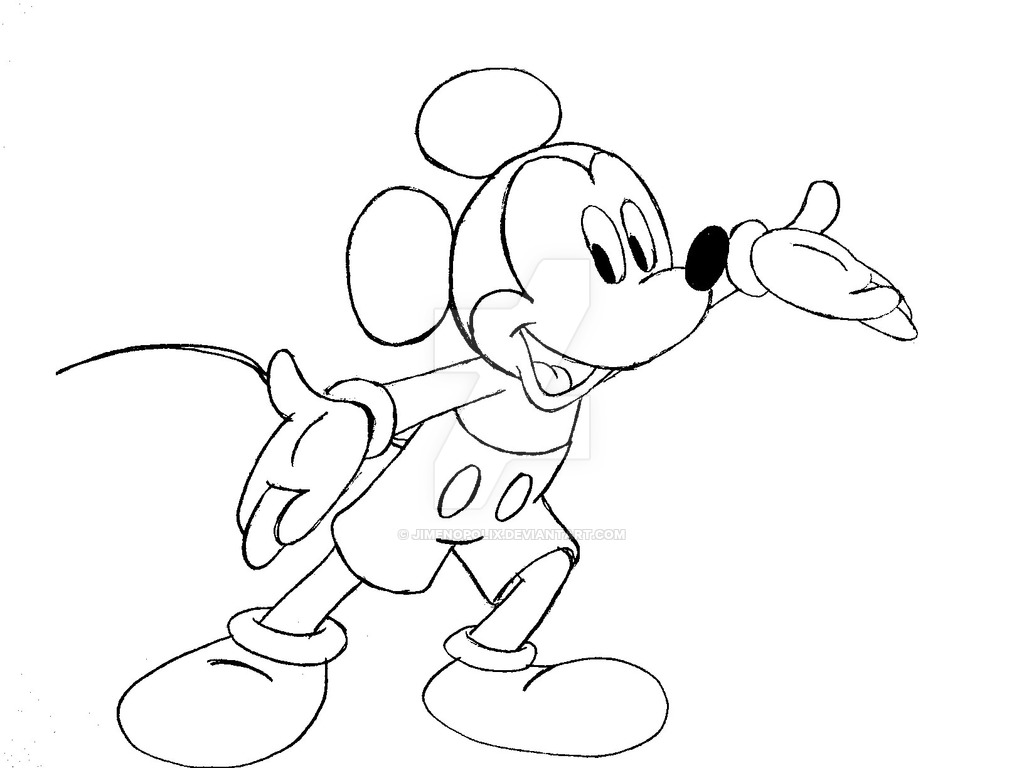 Free Mickey Mouse Drawing, Download Free Clip Art, Free