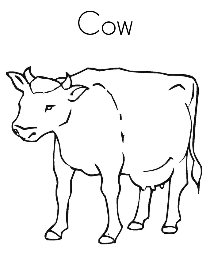 Free Outline Of Cow, Download Free Clip Art, Free Clip Art