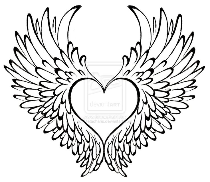 Clipart Of Black And White Wings With A Circle
