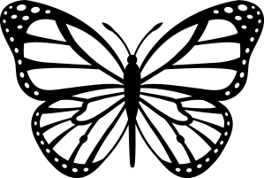 drawings butterfly butterflies line clipart monarch coloring clip library