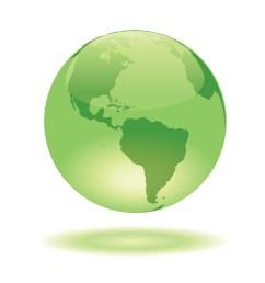 free globe vector green glass globe glowing on white background [ 1080 x 1080 Pixel ]