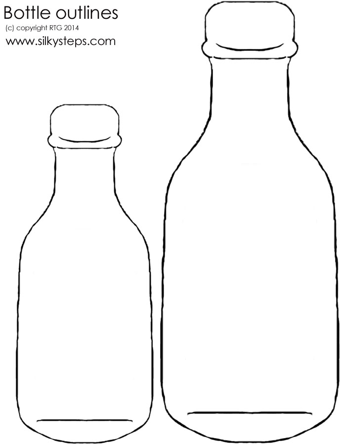 Free Message In A Bottle Outline, Download Free Clip Art