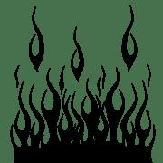 flame template printout - invitation