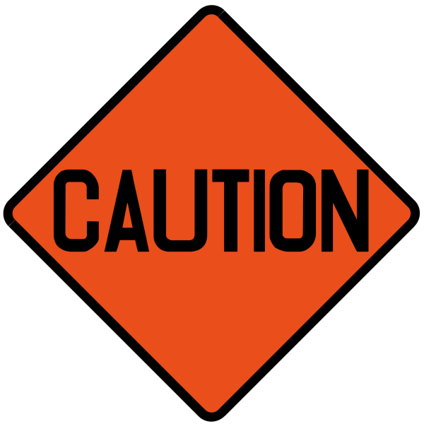 Free Caution Sign Clip Art