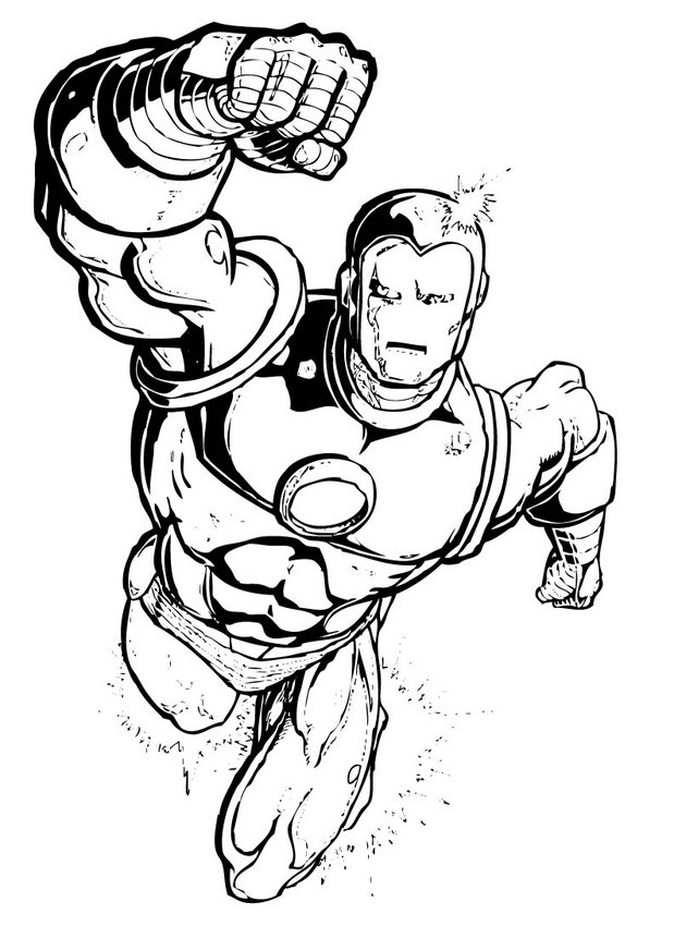 Pictxeer » Super Hero Coloring Pages