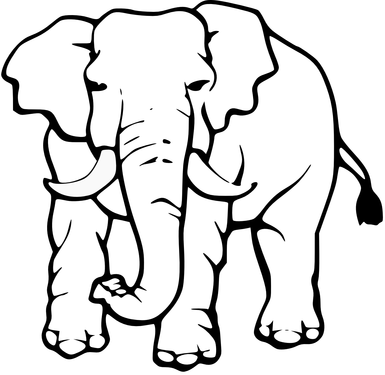 Images For Elephant Black And White Clip Art