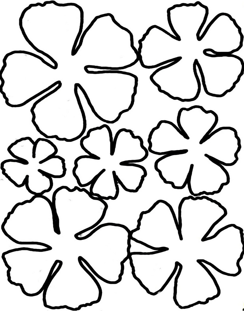 Free Flower Petal Template, Download Free Clip Art, Free