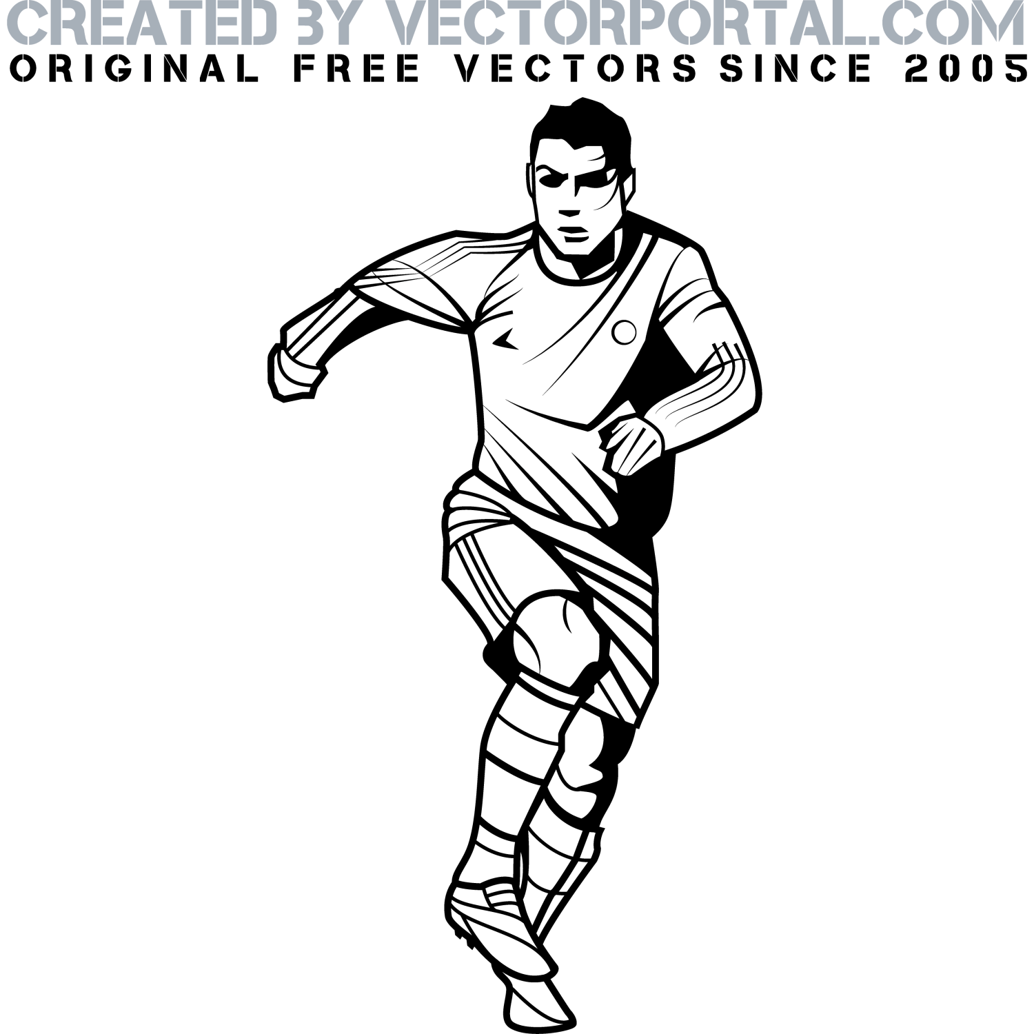 Images For Soccer Player Silhouette Free Vector
