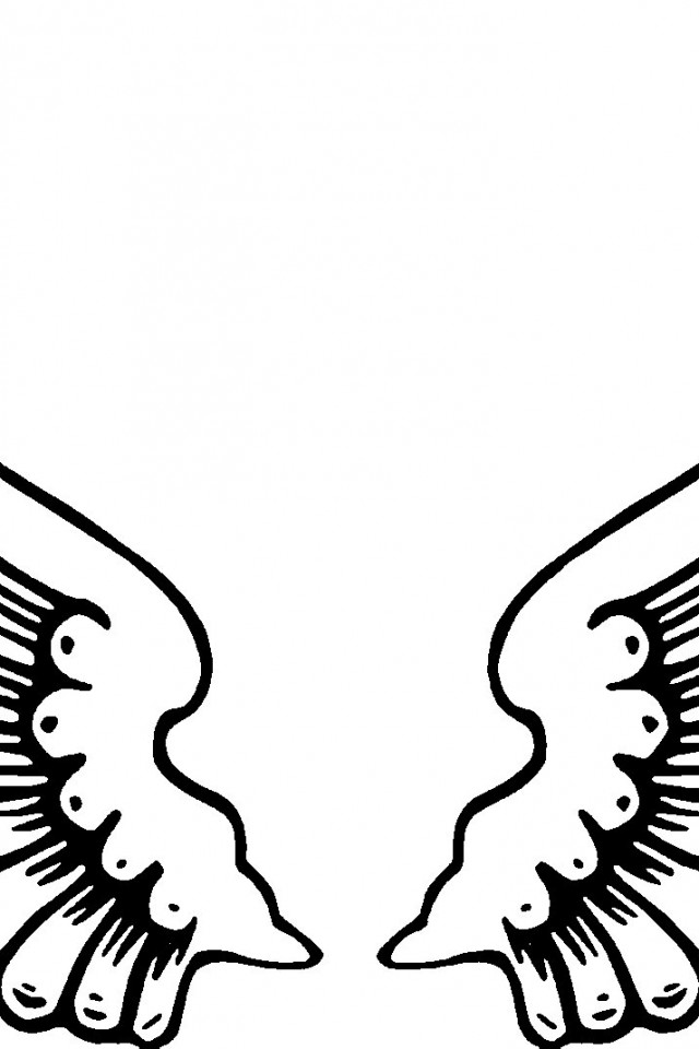 Christmas Angel Stencil