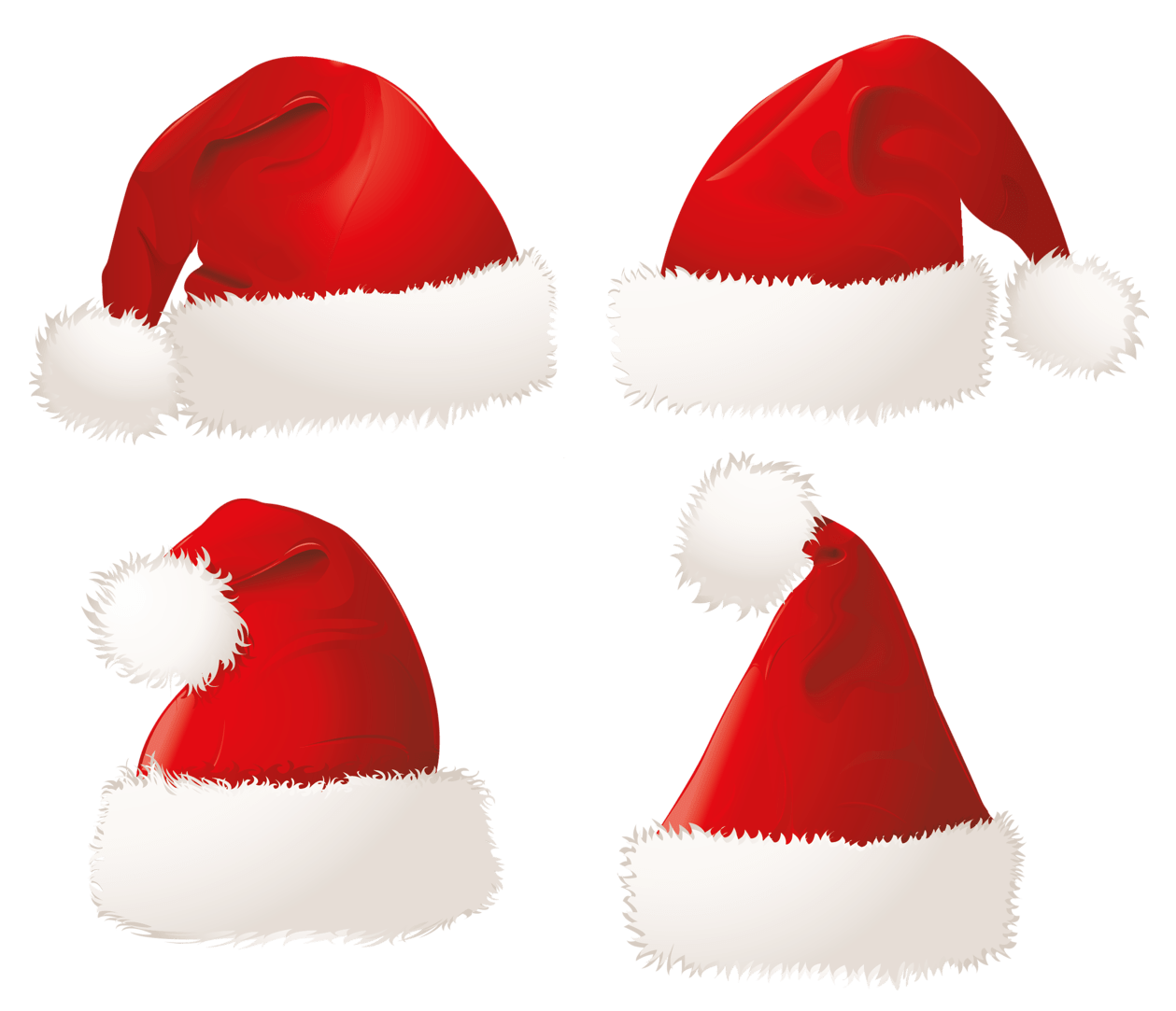 hight resolution of christmas santa hats png clipart picture