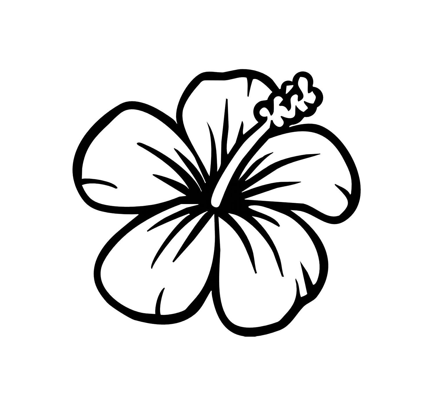 Hibiscus Flower Template