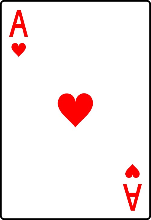 small resolution of ace of hearts playing card free clip art