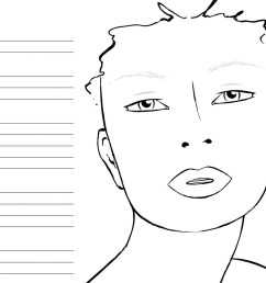 10 blank face chart templates male face charts and female face [ 1600 x 1236 Pixel ]