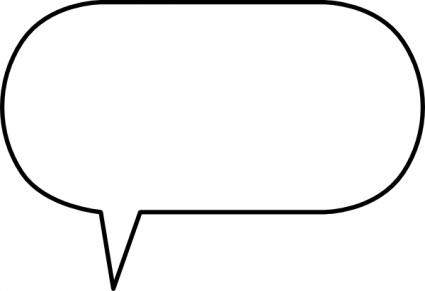 Free Speech Bubble Outline, Download Free Clip Art, Free