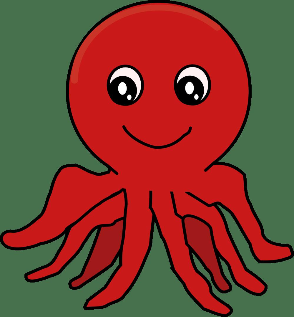 medium resolution of clipart red cartoon octopus