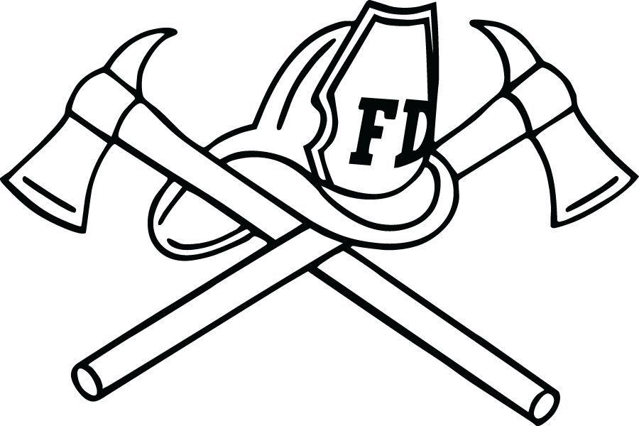 FireFighter Diecut Decal 02, firefighter stickers, fire