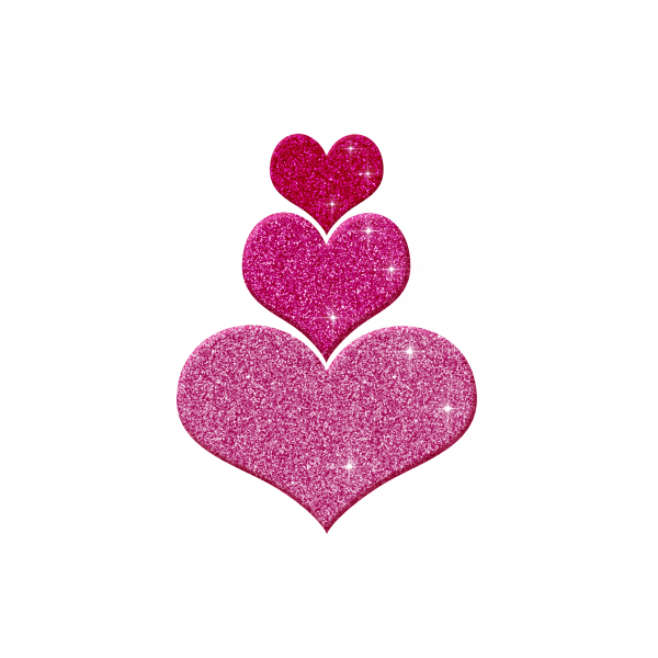 free of pink heart