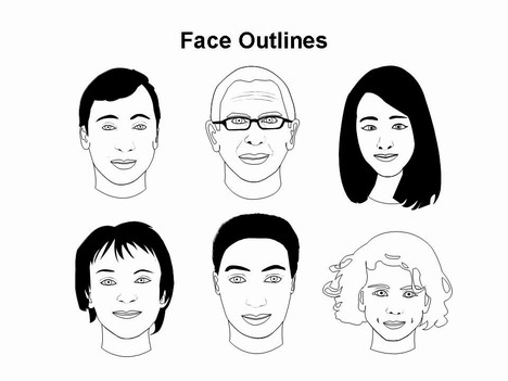 Free Outline Of Face Template, Download Free Clip Art