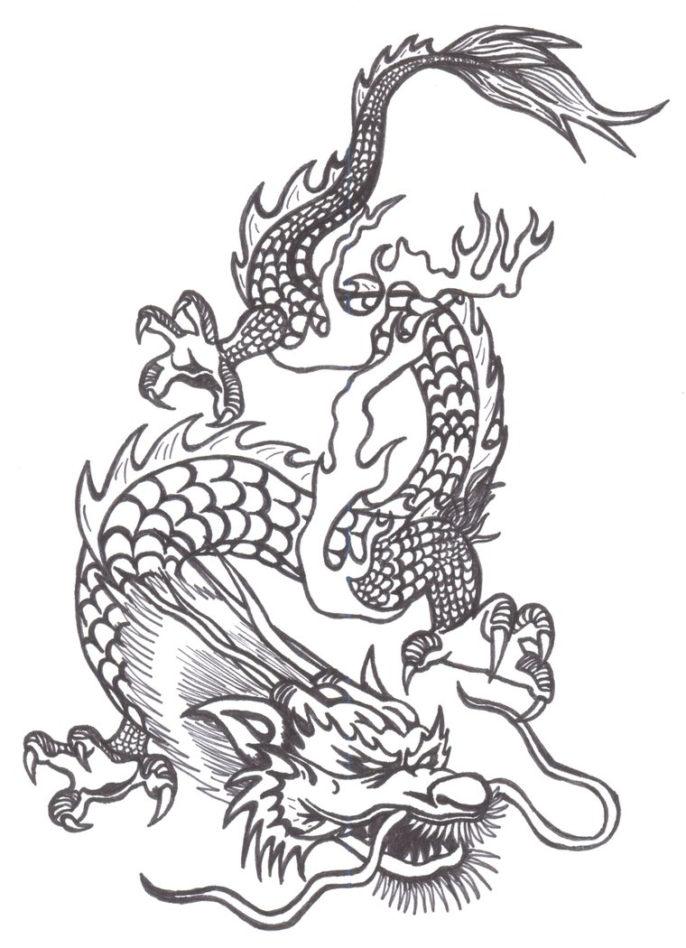 Free Chinese Dragon Drawing, Download Free Clip Art, Free