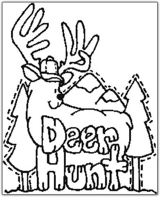 Deer Hunting Coloring Pages For Kids