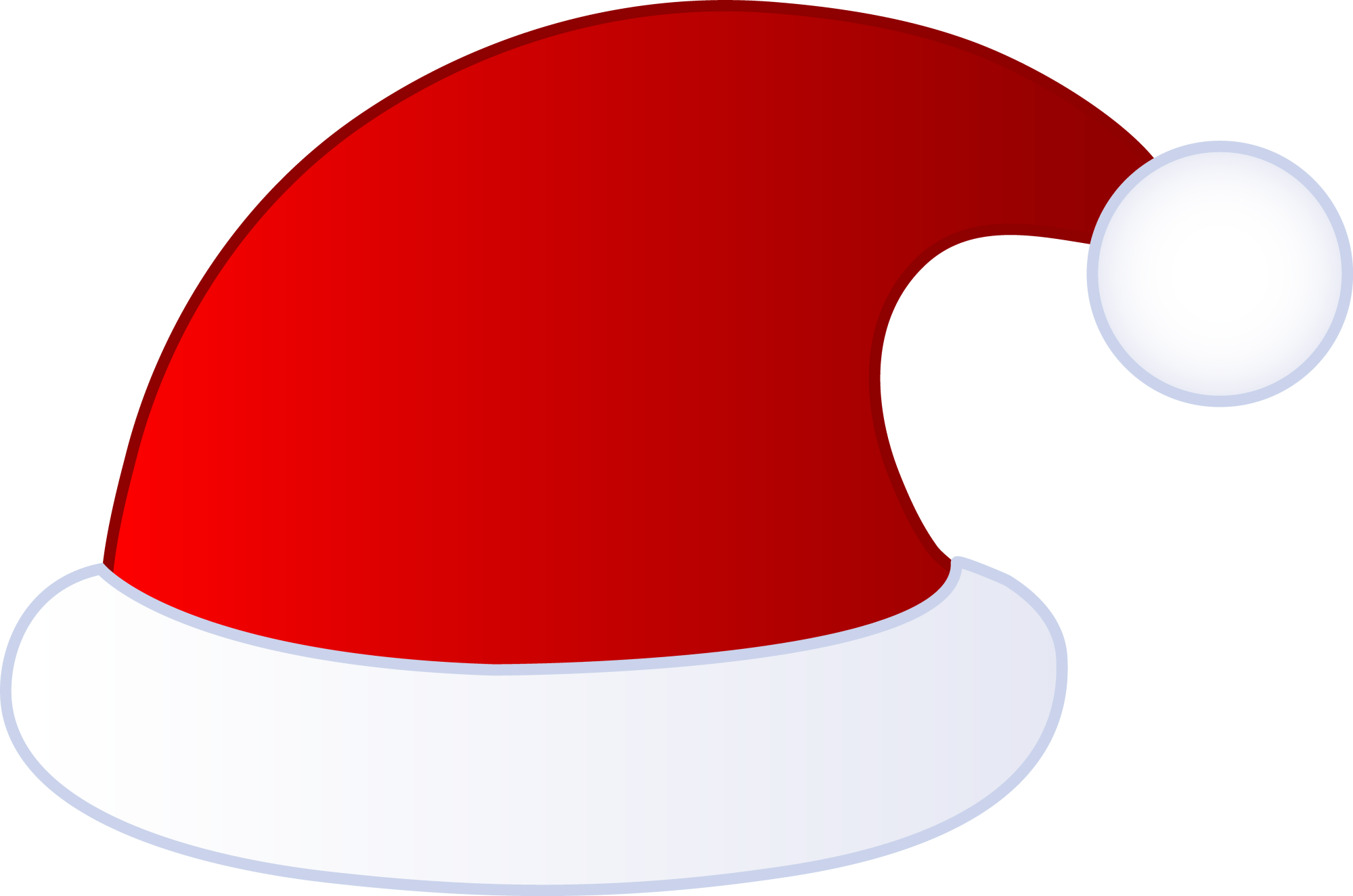 hight resolution of red santa claus hat free clip art