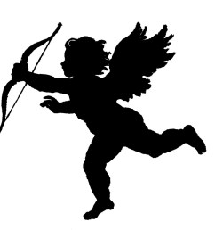 valentine cupid silhouette craft ideas clipart library [ 1350 x 1292 Pixel ]