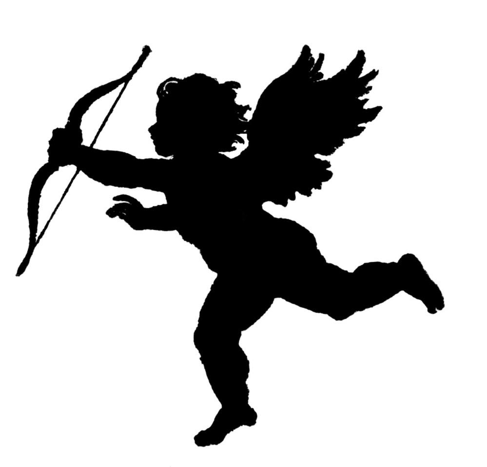 medium resolution of valentine cupid silhouette craft ideas clipart library