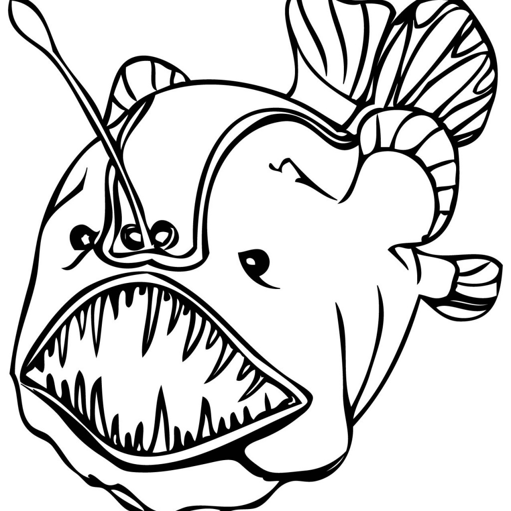 Tropical Fish Printable Coloring Pages